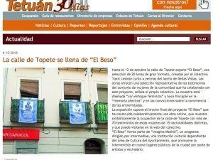 """La Calle Topete se llena de """"El Beso"""" Tetuán 30 días, 8/10/2018"""