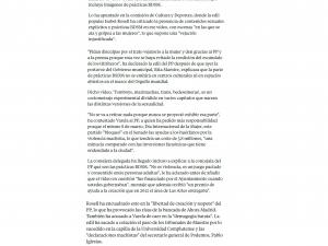"""Ahora Madrid aclara al PP que su gobierno financió el vídeo 'Tomboys, Marimachas, Bedesemeras', con imágenes BDSM"""" La Vanguardia 17/03/2017"""