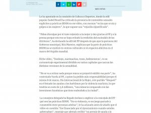 Ahora Madrid aclara al PP que su gobierno financió el vídeo 'Tomboys, Marimachas, Bedesemeras', con imágenes BDSM La Información 17/03/2017