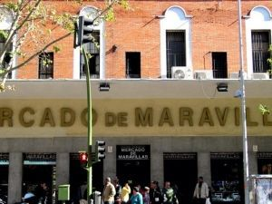 Entrance to the Maravillas market, Tetuán, Madrid