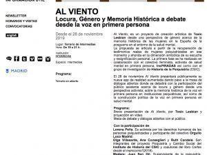 """Web de Matadero para el evento de presentación de la app """"Al Viento"""""""